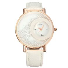 Leather Band Luxury Diamond Stainless Steel Analog Quartz Women Wrist Watches