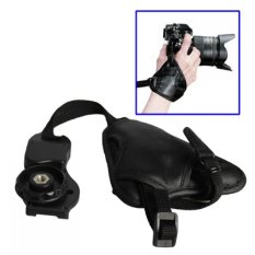 Leather Camera Grip Hand Strap Untuk Hand Grip Kamera Universal SLR DSLR Hitam