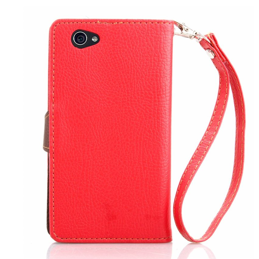 Leather Cover for Sony Xperia Z1 Compact (Red) (Intl)