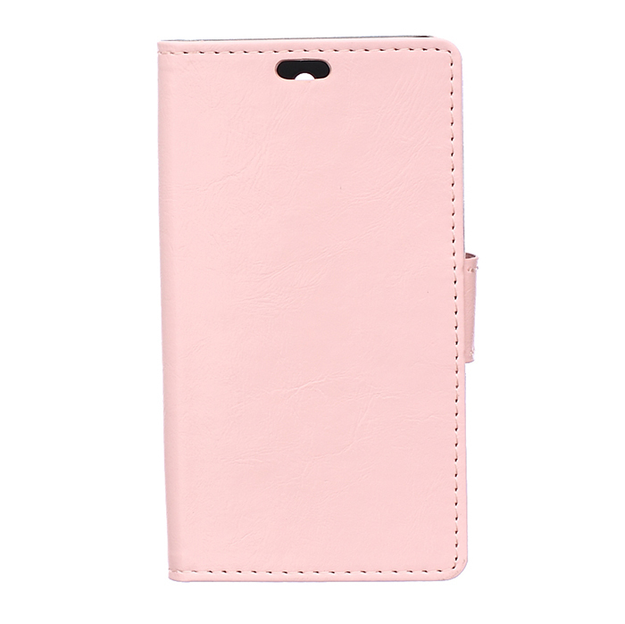 Leather Flip Case with Card Slot for Huawei Ascend Y635 (Pink) (Intl)