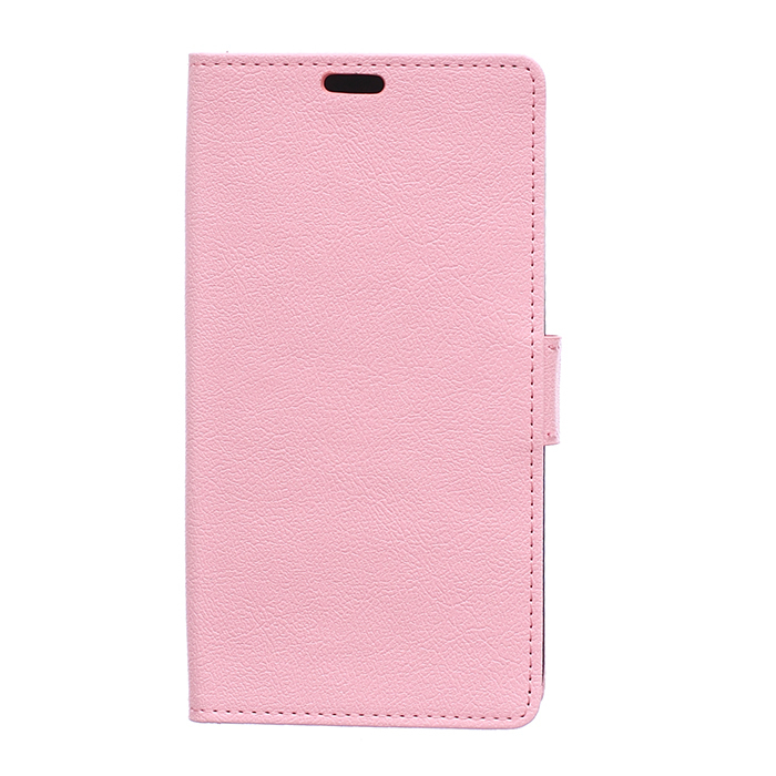 Leather Flip Case With Card Slot for Samsung Galaxy On7 (Pink) (Intl)