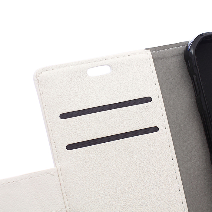 Leather Flip Case With Card Slot for Samsung Galaxy Trend 2 Lite G318H (White) (Intl)