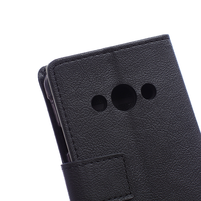 Leather Flip Case With Card Slot for Samsung Galaxy Xcover 3 G388 (Black) (Intl)