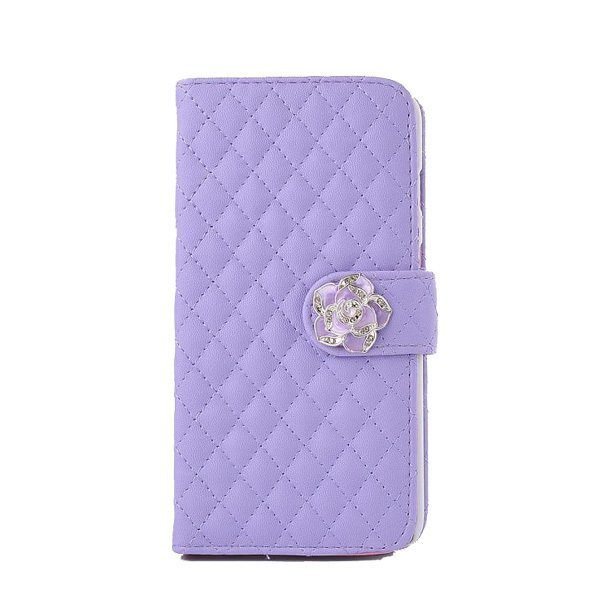Leather Wallet Case for iPhone 5/5S (Purple)