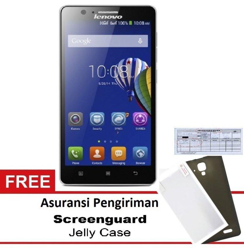 Lenovo A536 Quadcore RAM 1GB Free Asuransi Pengiriman + Screen Guard + case - 8GB - Hitam