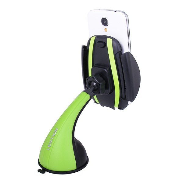 LENTION C300 Car Mount Universal Windshield Suction Phone Holder Stand For iPhone Samsung (Green) (Intl)