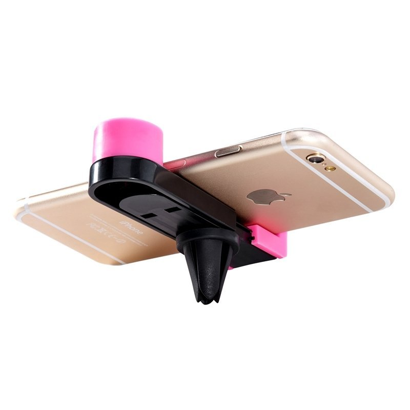 LENTION Car Air Vent Outlet Magnet Phone Holder ROSE RED(Intl)
