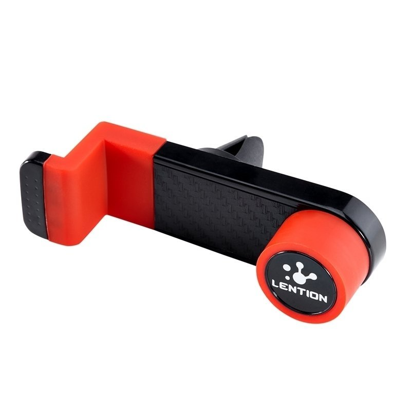 LENTION Portable Air Vent Car Mount Cradles for iPhone Smart Phones GPS Red(Intl)