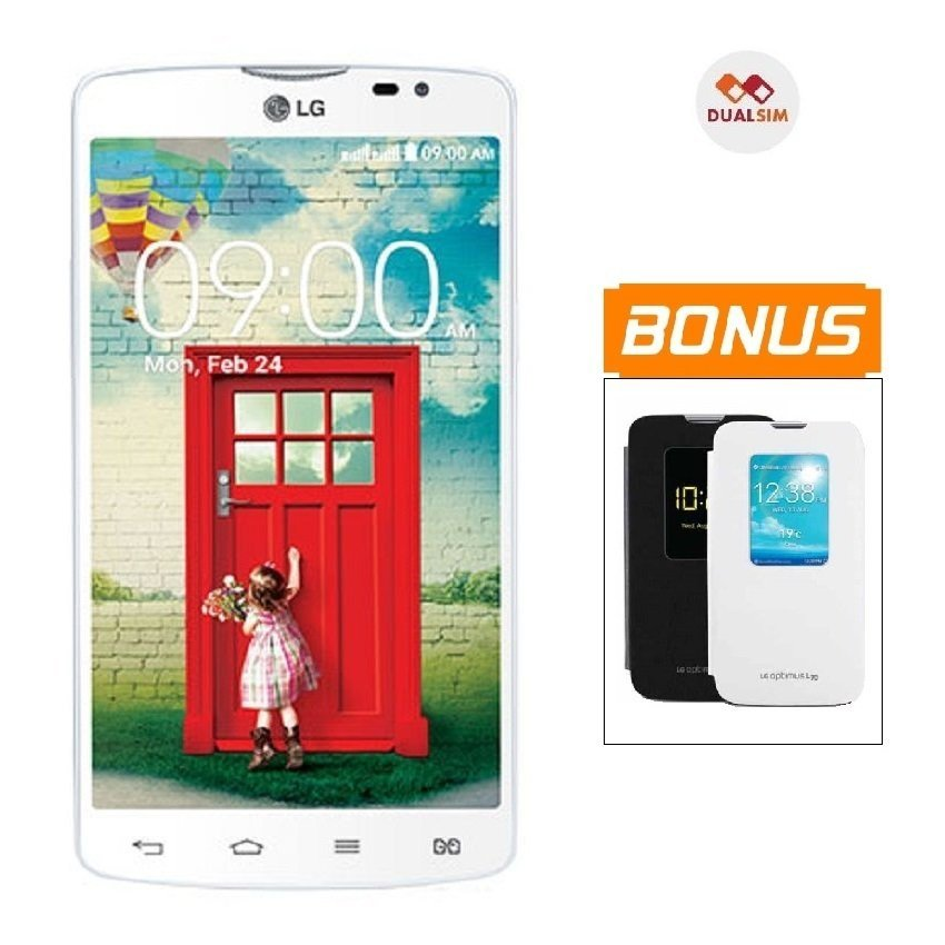 LG L80 Dual D380 - Putih + Bonus Flip Cover