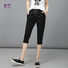 Likener Trend Women Harem Celana Soft And Comfortable Calf-length Celana (Black) (Intl)
