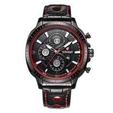 LONGBO Fashion Leather Belt Strip Mans Sport Army Military Quartz Watch Watches Wristwatch 80198