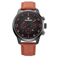 LONGBO Luxury Men Genuine Leather Watch Sports Quartz Watches For Men Male Leisure Watch 80185