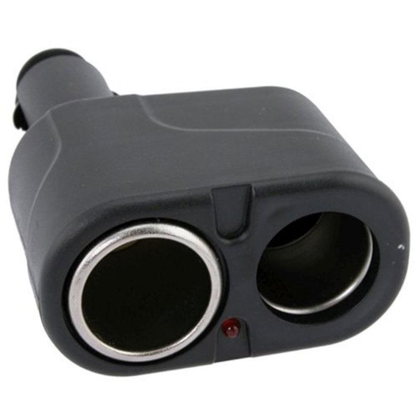 louiwill 12V DC Dual USB Car Charger Cigar Cigarette Lighter Double Power Adapter Socket Splitter,Black (Intl)