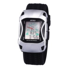 Louiwill 2016 Car Square Dial New LED Multifunction Ladies Casual Men's Sports Watch 50 Meters Waterproof Watch Male And Female Students (Black) - Intl