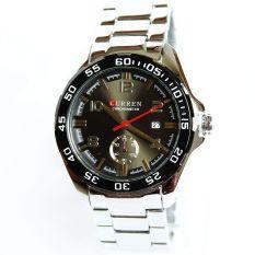 Louiwill Watch Men Luxury Original Analog Fashion Luxury Quartz Stainless Steel Free Shipping (White + Black) (Intl)