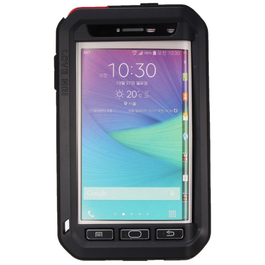 LOVE MEI Shockproof Aluminum Metal Cover Case For Samsung Galaxy Note Edge N9150 Black (Intl)
