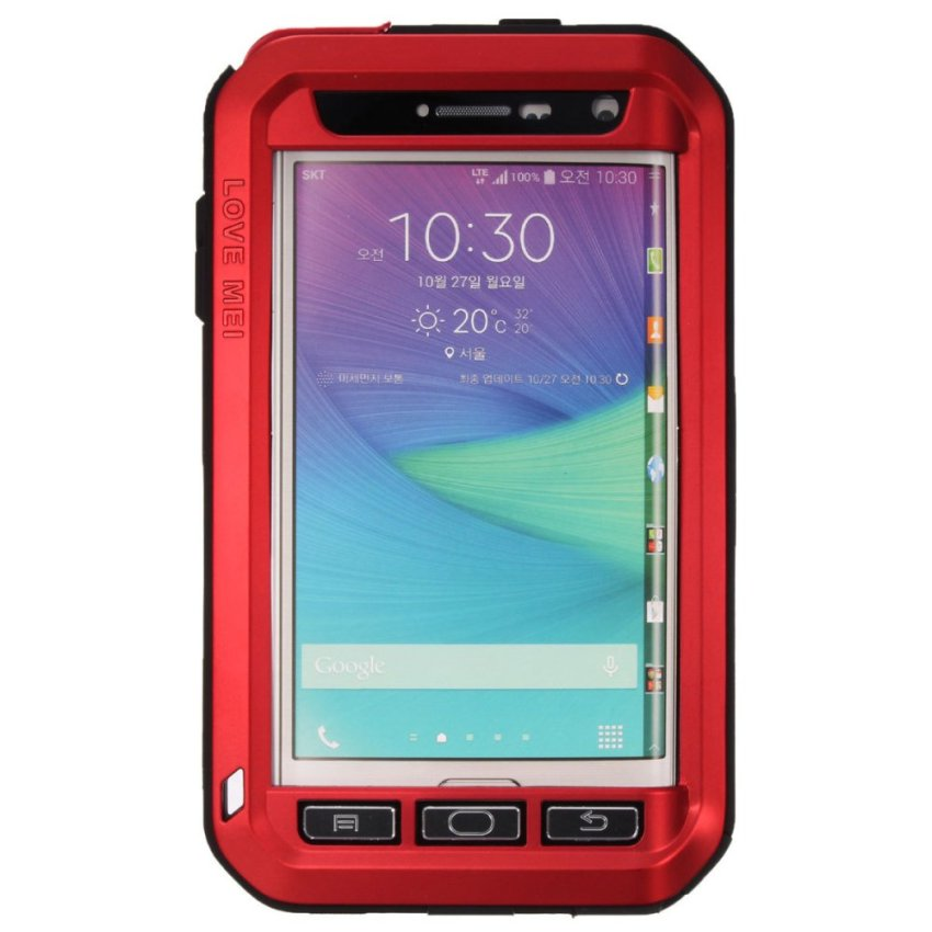 LOVE MEI Shockproof Aluminum Metal Cover Case For Samsung Galaxy Note Edge N9150 Red (Intl)