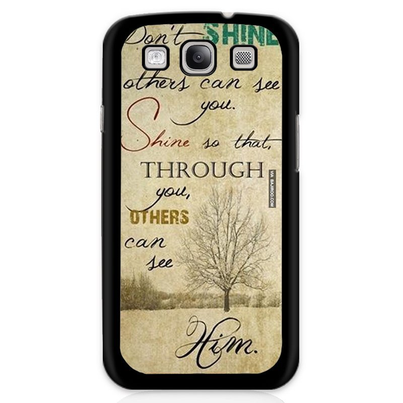 Love Words Printed Phone Case for Samsung Galaxy S3 (Black)