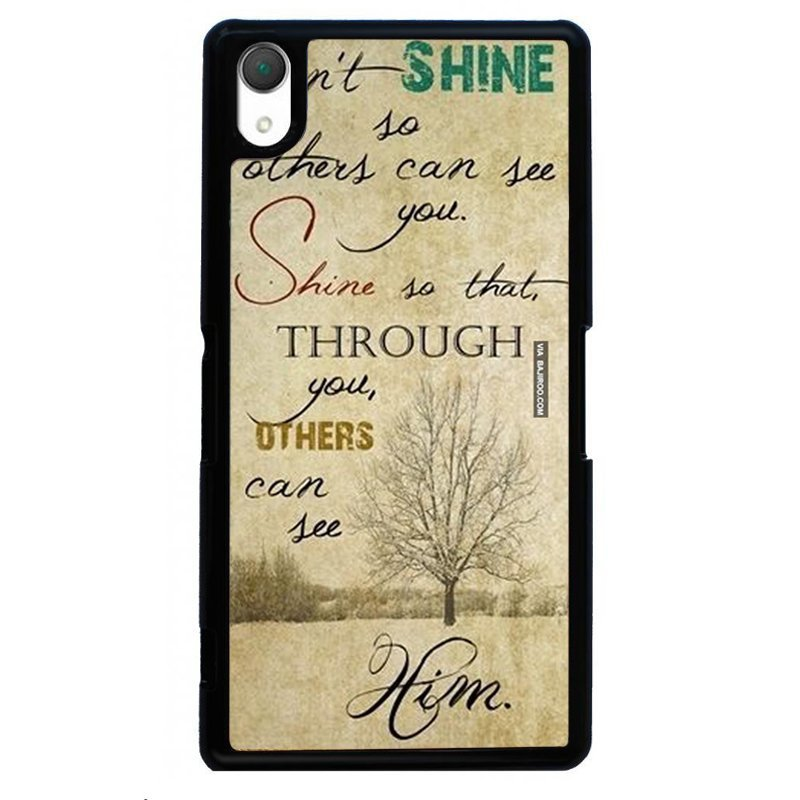 Love Words Printed Phone Case for SONY Xperia Z3 (Black)