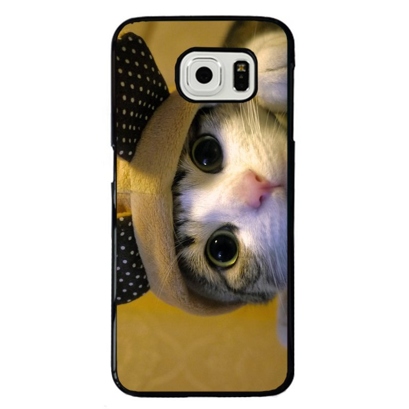 Lovely Kitten Cat Painting Phone Case for Samsung Galaxy E7 (Multicolor)
