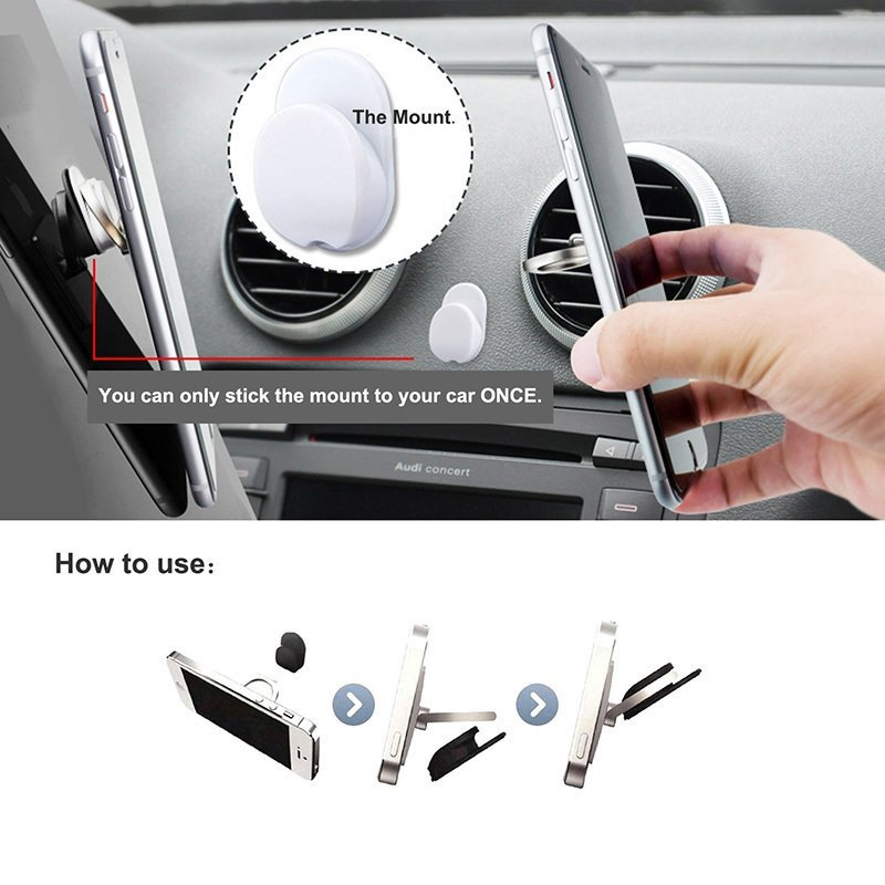 Luxury 360 Degree Finger Ring Cell phone holder Mobile Phone Smartphone Stand Cradle Mount Bracket For iPhone iPad Samsung All Smart Phone White (Intl)