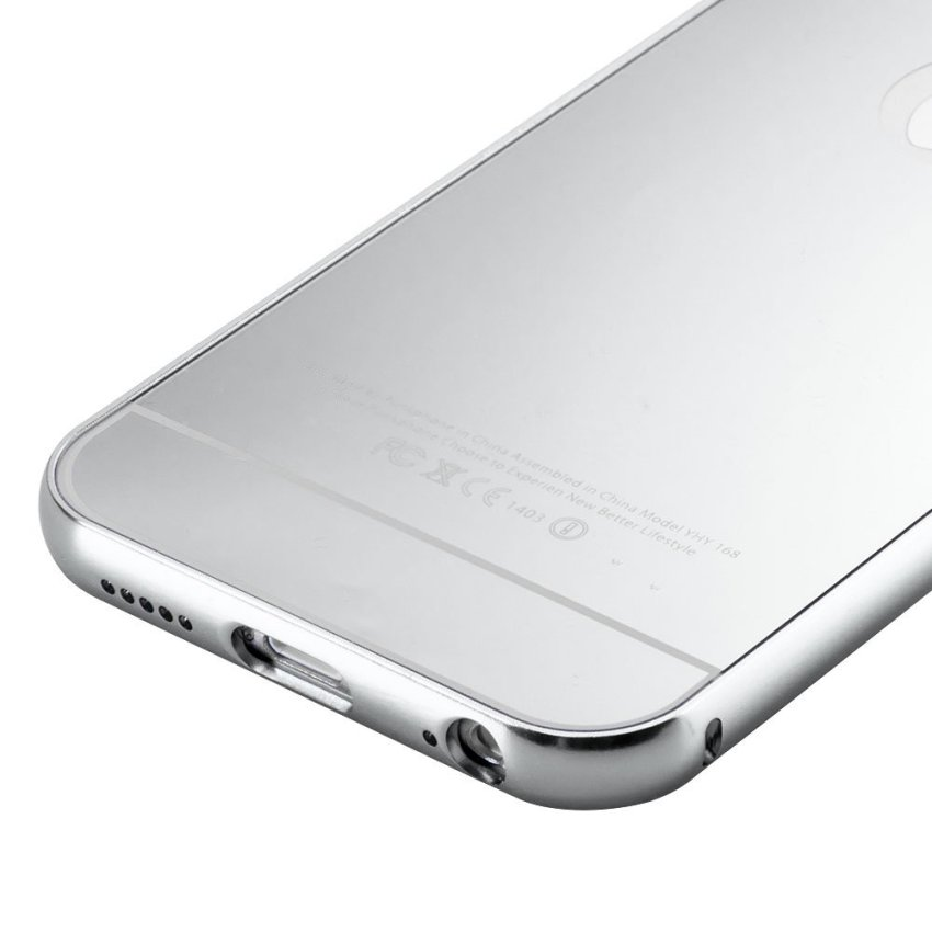 Luxury Aluminum Super-thin Mirror Metal Case Cover for iPhone 5 5s (Silver)(INTL)