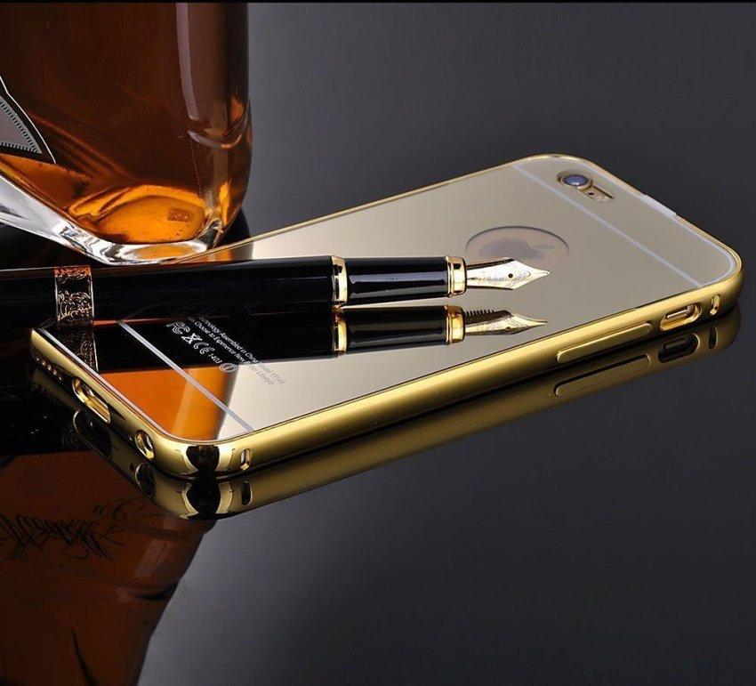 Luxury Aluminum Super-thin Mirror Metal Case for iPhone 5 5s (Gold)(INTL)