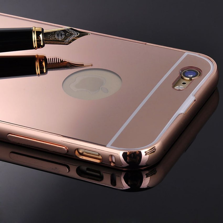 Luxury Aluminum Super-thin Mirror Metal Case for iPhone 5 5s (RoseGold)(INTL)