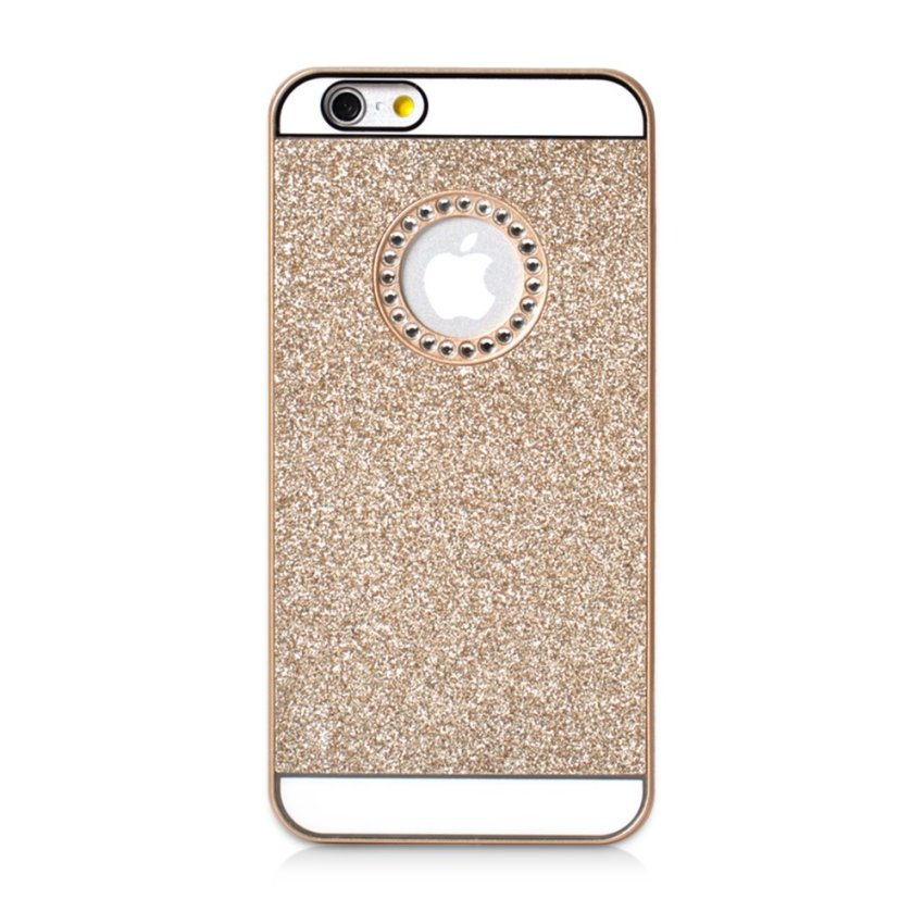 Luxury Diamond Glitter Hard Case Cover for Apple iPhone 6Plus / 6s Plus (Gold) (Intl)