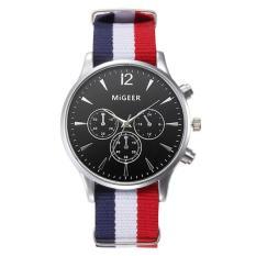Luxury Fashion Canvas Mens Analog Watch Wrist Watches Black Free Shipping