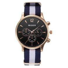 Luxury Fashion Canvas Mens Analog Watch Wrist Watches Black- Intl