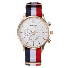 Luxury Fashion Canvas Mens Analog Watch Wrist Watches White Free Shipping