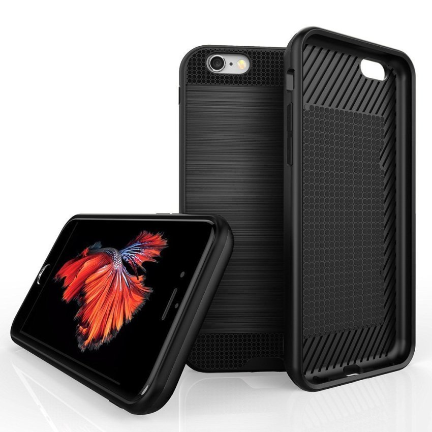 Luxury Hybrid Shockproof Armor Rubber Hard Card Case for iPhone 6 Black (Intl)