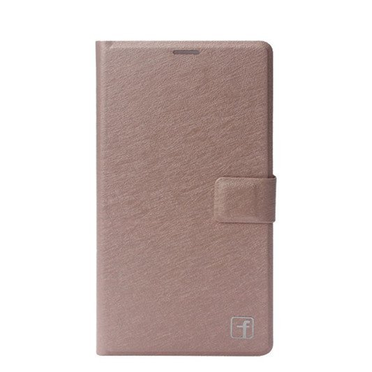 Luxury Leather Flip Stand Case Protector Cover Skin For Lenovo S850 Gold
