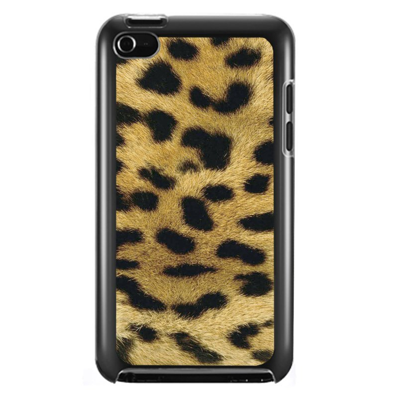 Luxury Leopard Painted Phone Case for iPod Touch 4 (Black)
