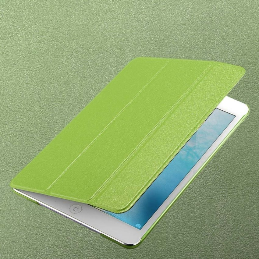 Luxury Magnetic Slim Smart Wake Leather Transparent Back Case Cover for Apple iPad mini 1 2 3 Green(INTL)