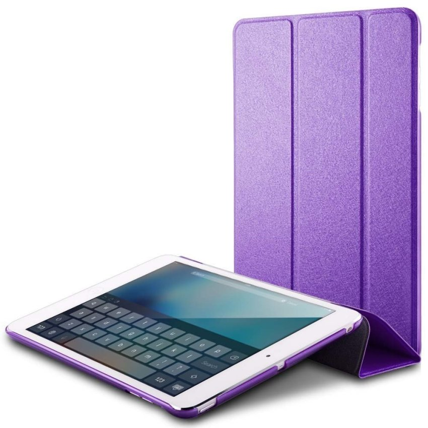 Luxury Magnetic Slim Smart Wake Leather Transparent Back Case Cover for Apple iPad mini 1 2 3 Purple(INTL)