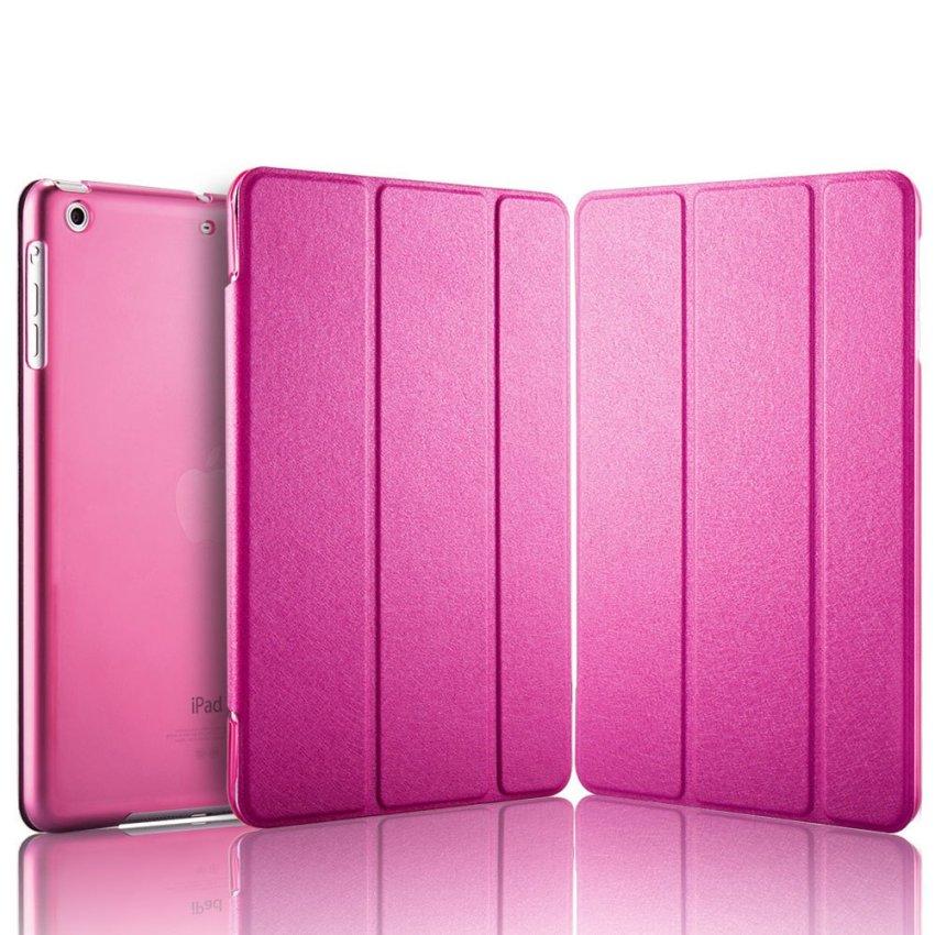 Luxury Magnetic Slim Smart Wake Leather Transparent Back Case Cover for Apple iPad mini 4 Rhodo(INTL)
