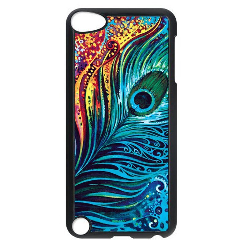 Luxury Peacock Feather Pattern Phone Case for iPod Touch 4 (Black)