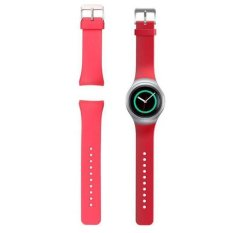 Luxury Silicone Watch Band Strap For Samsung Galaxy Gear S2 SM-R720 (Red)- Intl