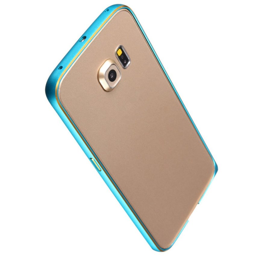 Luxury Slim Metal Bumper Case for Samsung Galaxy S6/S6 Edge (Blue) (Intl)