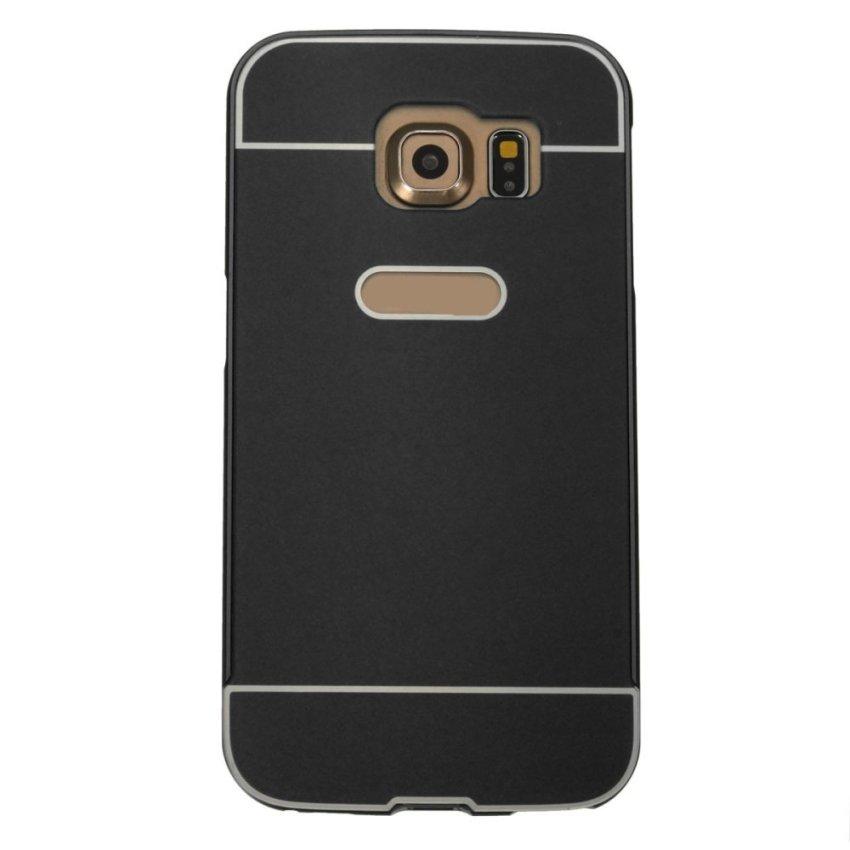 Luxury Slim Metal Frame Hard Back Case for Samsung Galaxy S6 Edge G9250 (Black) (Intl)