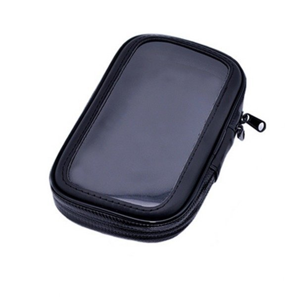 Luxury Waterproof Motorcycle or Bike Handlebar Leather Case (Black) (Intl)