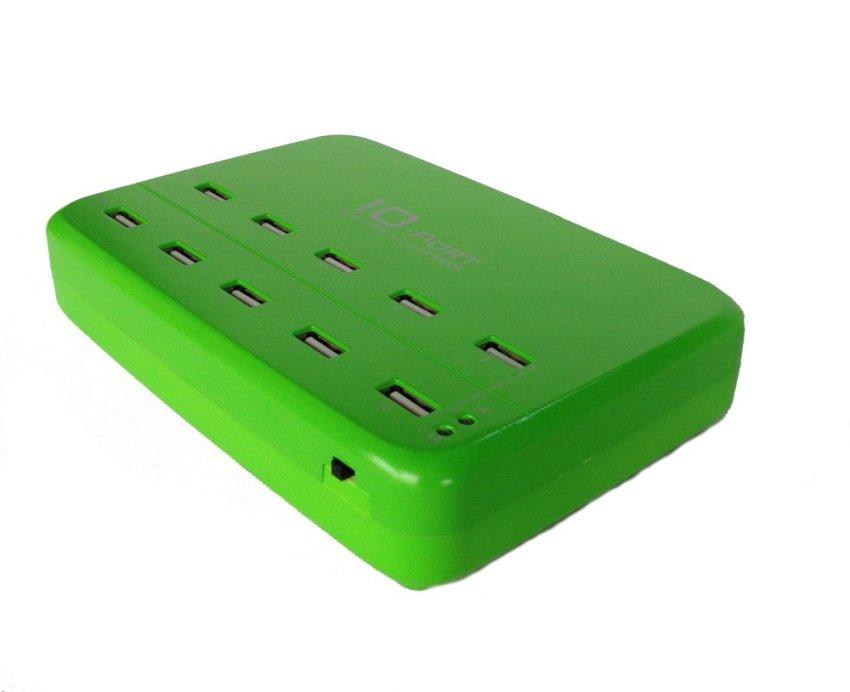 LVSUN 10-USB Charger 10A Hijau