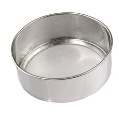 LZ Stainless Steel 40 Mesh Flour Sieve Sifting Strainer Cakebaking Kitchen Mechanical Baking Icing Sugar Household Manual Sieve
