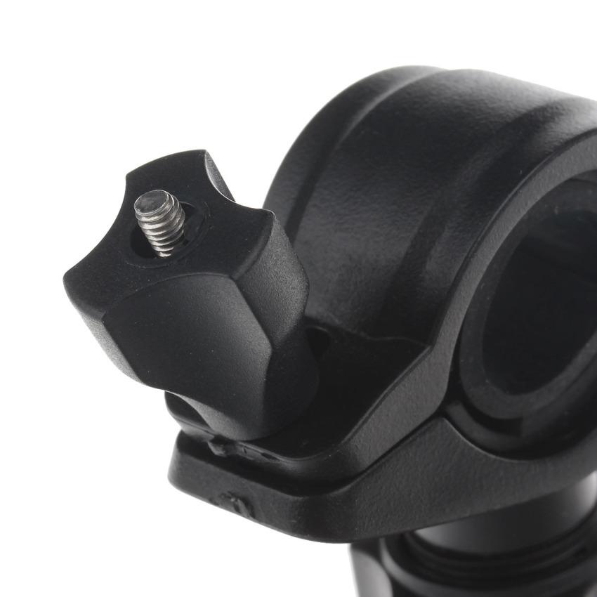M05 360 Degree Rotation Bracket w/ PU Leather Waterproof Bag for 6.3 Inch Mobile Phone - Black (Intl)