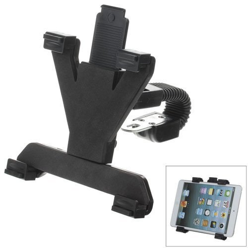 M08 360 Degree Rotation Scooter Bracket w/ C60 Back Clamp for 7~10 Inch Tablet PC - Black
