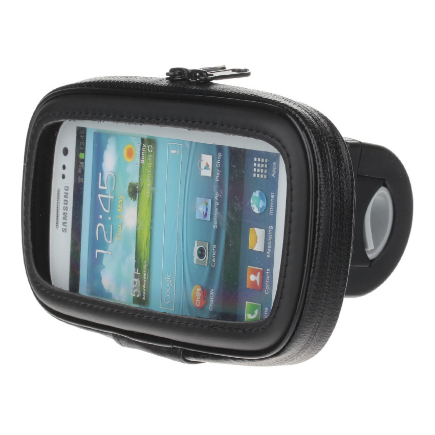 M09 360 Degree Rotation Bracket w/ Waterproof PU Leather Bag for Samsung Galaxy S3 i9300 - Black (Intl)