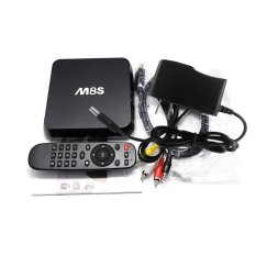 M8S Android 4.4 TV Box Amlogic S812 Quad Core Cortex-A9 2G / 8G XBMC DLNA Miracast Airplay H.264 / H.26.4K * 2.5.0G / 2.4G 802.11a / B / G / N Bluetooth 4.0 Smart Media Player With Remote Controller (Intl)