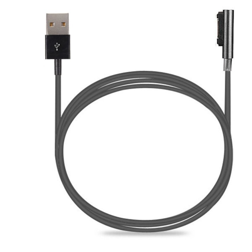 Magnetic Charging Charger Cable LED For Sony Xperia Z3 L55t Z2 Z1 Compact XL39h (Black) (Intl)